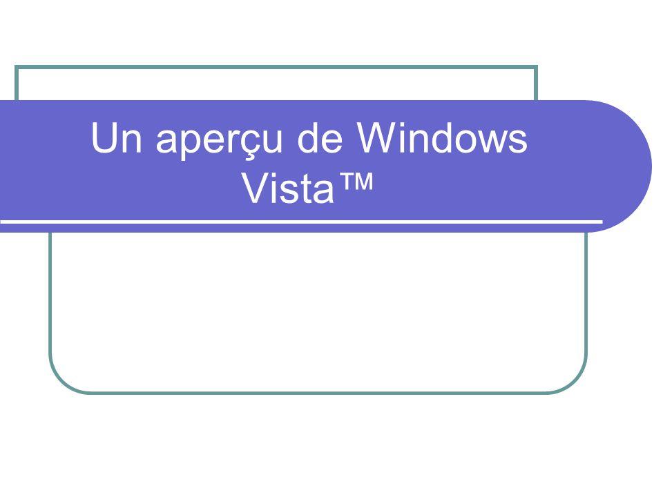 Un aperçu de Windows Vista