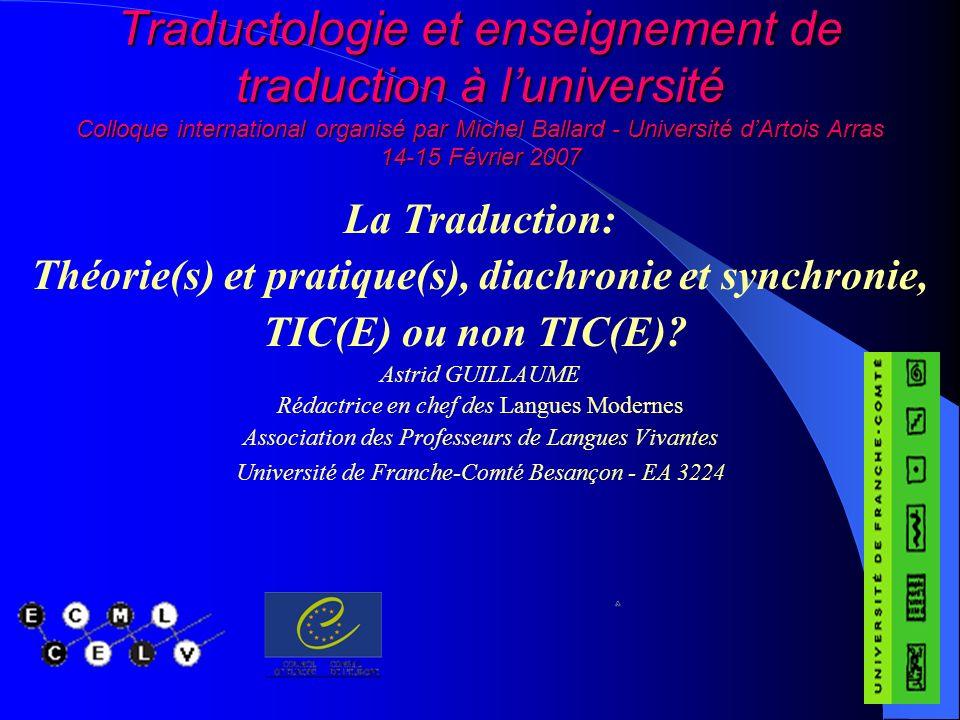 - Montpellier 3 : « Ce cours de traduction écrite vise à fixer les vocabulaires fondamentaux qui permettront ultérieurement, en situation professionnelle, dassurer la fiabilité des documents de travail élaborés.