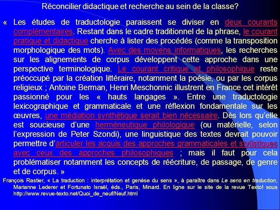 Traductologie et enseignement de traduction à luniversité APLV- Les Langues Modernes www.APLV-LanguesModernes.org