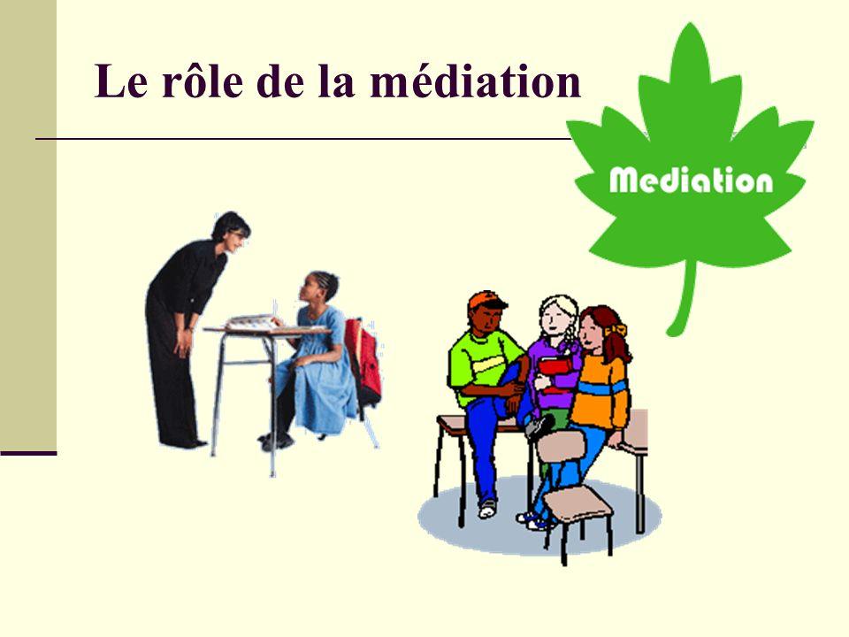Le rôle de la médiation