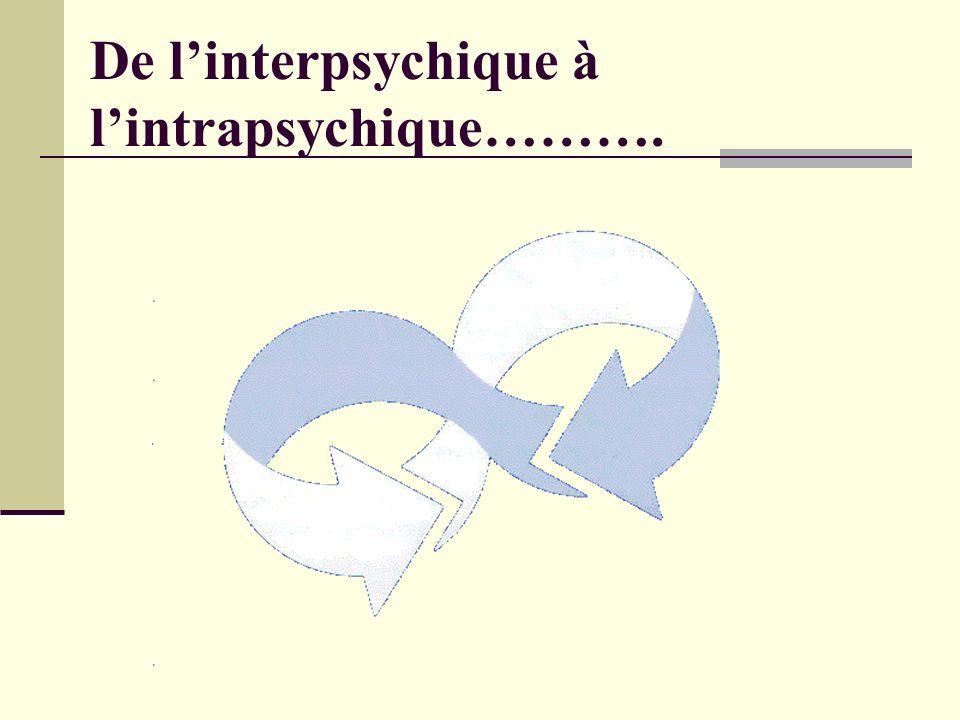 De linterpsychique à lintrapsychique……….