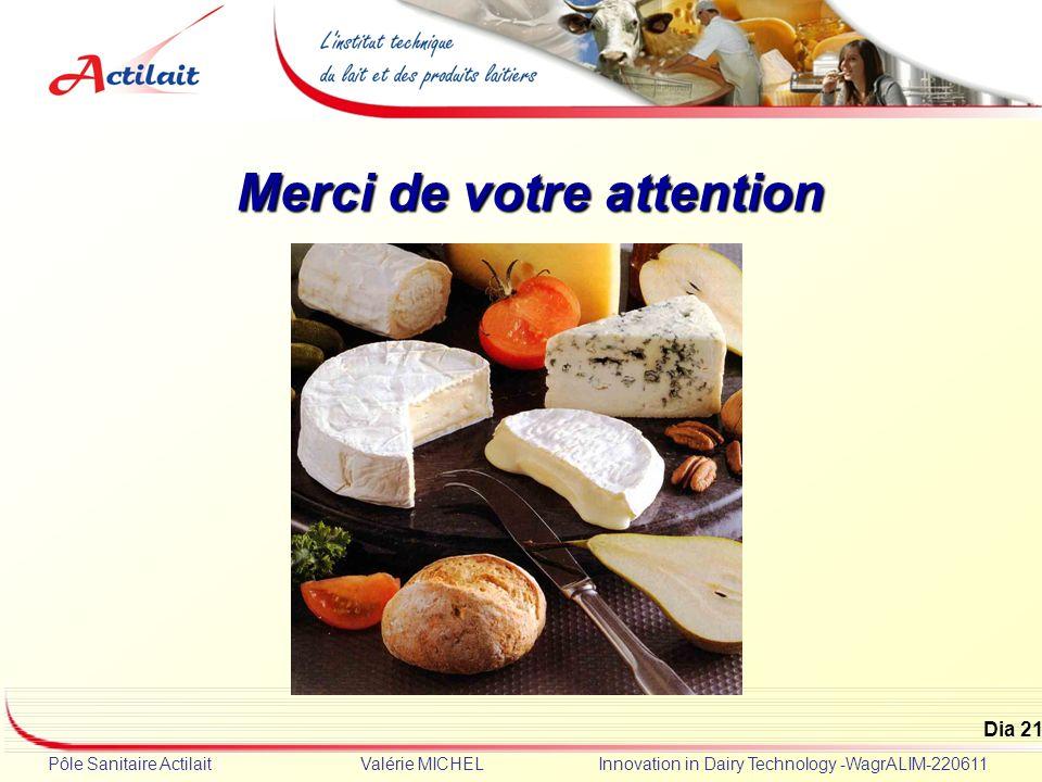 Dia 21 Pôle Sanitaire Actilait Valérie MICHEL Innovation in Dairy Technology -WagrALIM-220611 Merci de votre attention