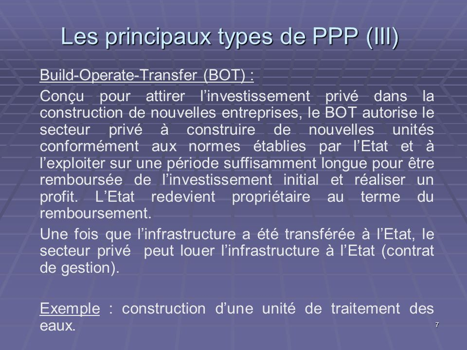 18 PPP comme négociation Négociation entre lacteur public et lacteur privé : Négociation entre lacteur public et lacteur privé : Leurs objectifs doivent être compatibles sans être identiques.
