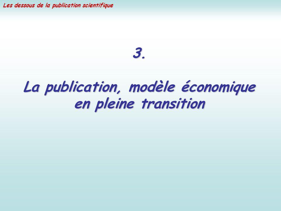 Les dessous de la publication scientifique 3. La publication, modèle économique en pleine transition