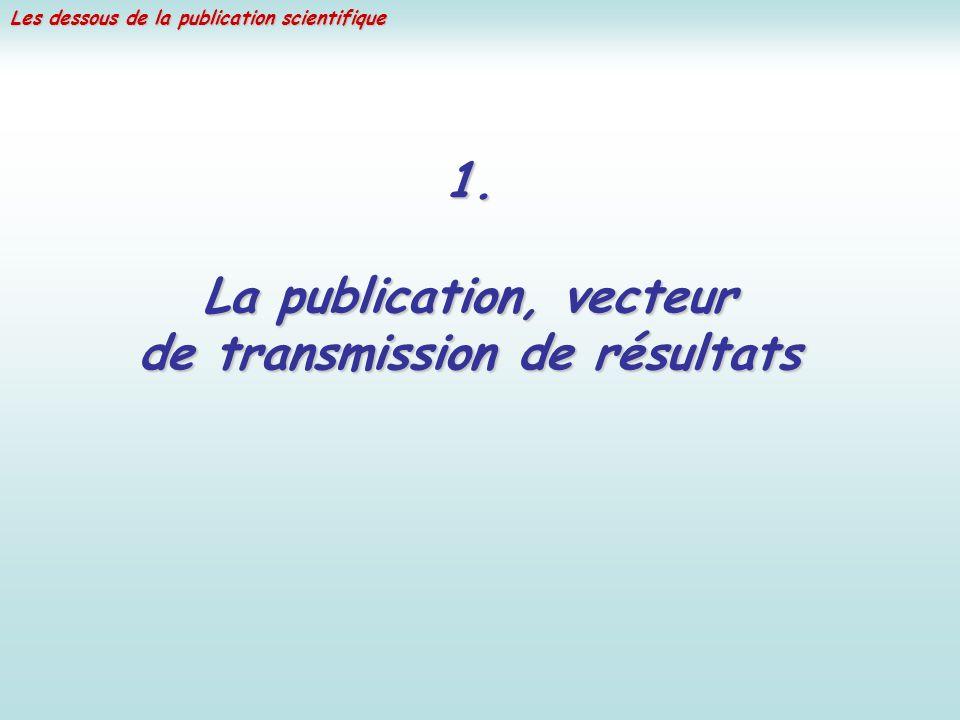 Les dessous de la publication scientifique 1.
