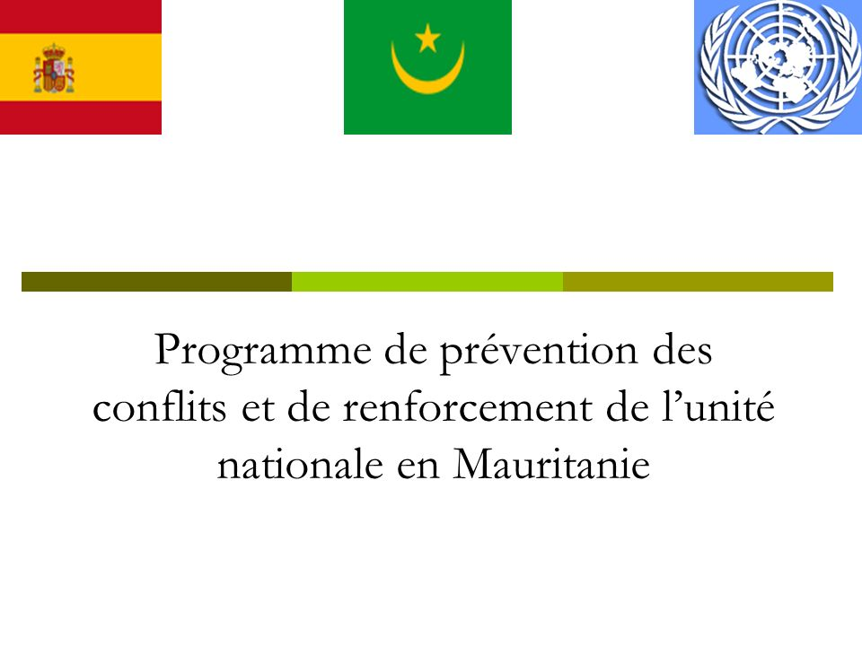 Programme de prévention des conflits et de renforcement de lunité nationale en Mauritanie