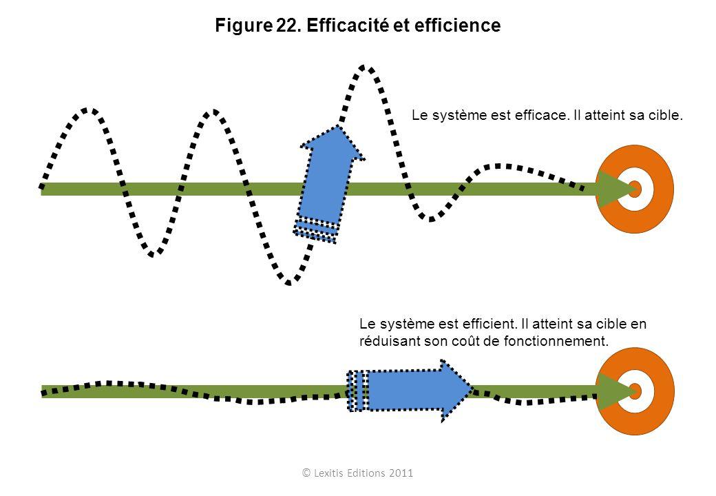 © Lexitis Editions 2011 Figure 22. Efficacité et efficience Le système est efficace. Il atteint sa cible. Le système est efficient. Il atteint sa cibl