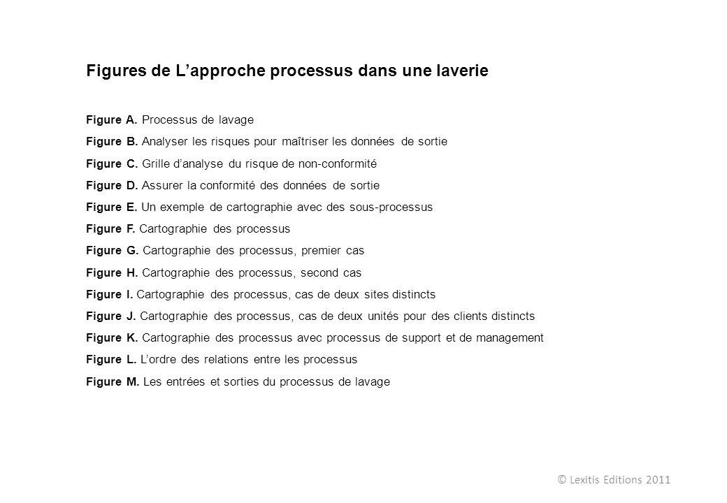 © Lexitis Editions 2011 Figures de Lapproche processus dans une laverie Figure A. Processus de lavage Figure B. Analyser les risques pour maîtriser le