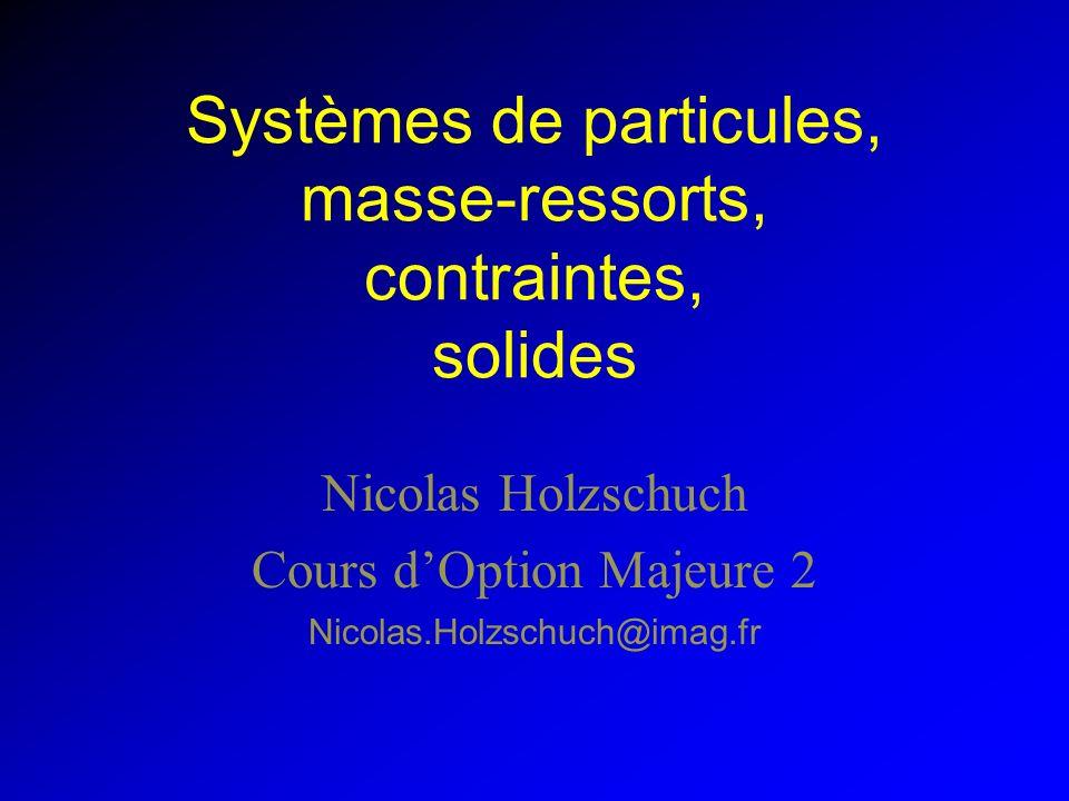 À chaque étape Ajuster létat des particules –Éliminer les particules trop âgées –Collisions –Créer les nouvelles particules –Recalculer les index des particules
