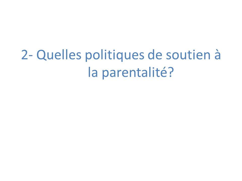 2- Quelles politiques de soutien à la parentalité?