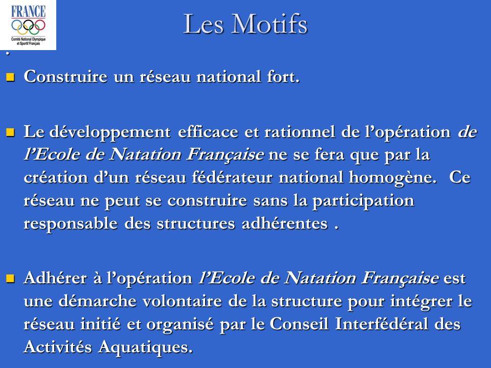 Les Motifs. Construire un réseau national fort. Construire un réseau national fort.