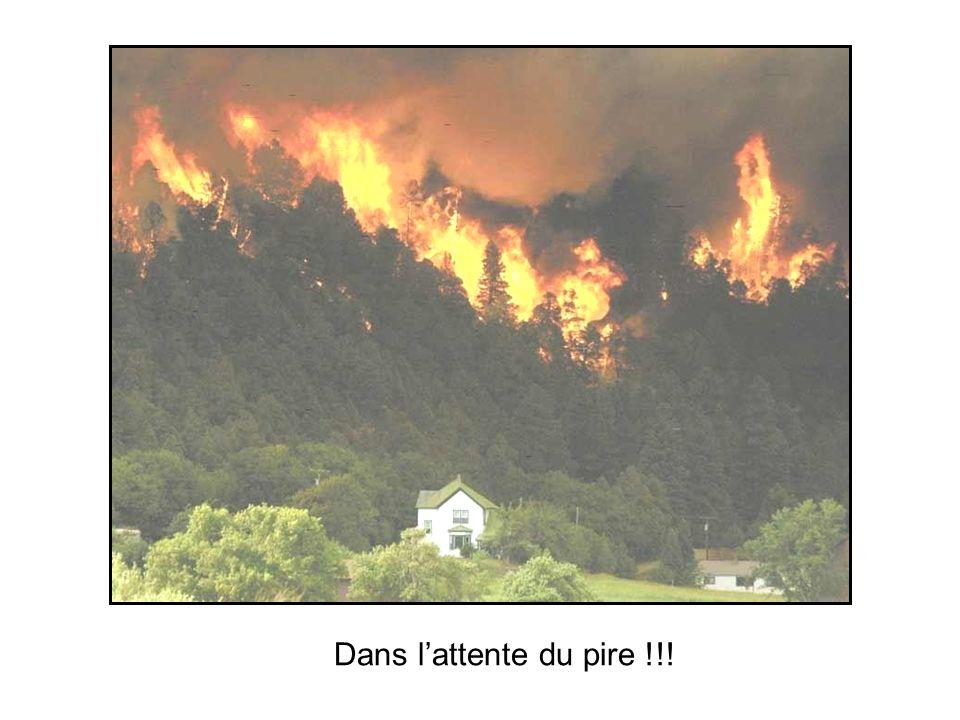 Effets Tempête de feu Tornade de flammes Rayonnement intense Explosion de gaz et de poussière NB : Leffet de pente est présent dès que le terrain sy p