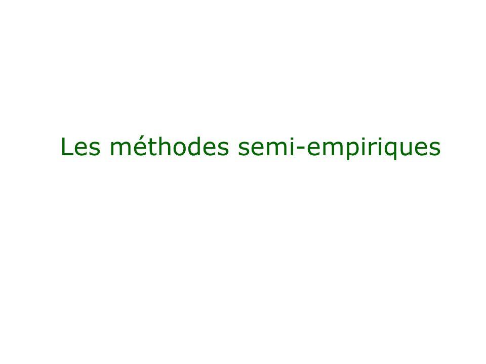 Les méthodes semi-empiriques