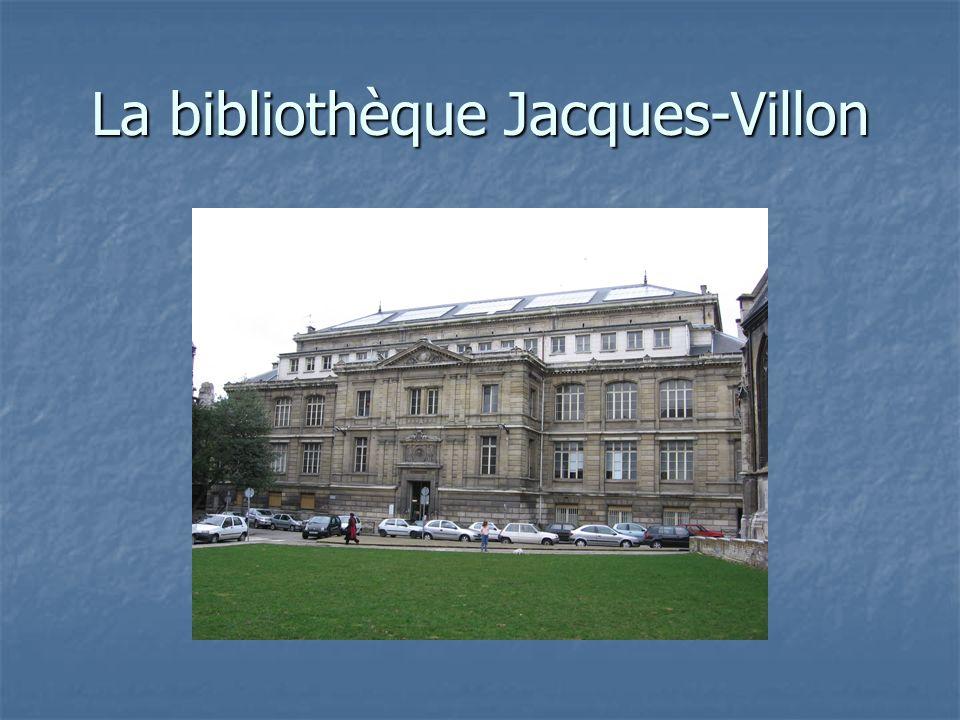 La bibliothèque Jacques-Villon