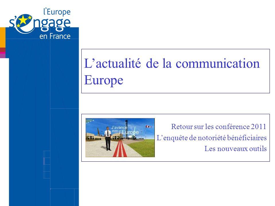 La conférence FSE du 31 mars 2011 « Innover ensemble pour lemploi des seniors » 300 participants dont une forte représentation du réseau européen « Age et FSE ».