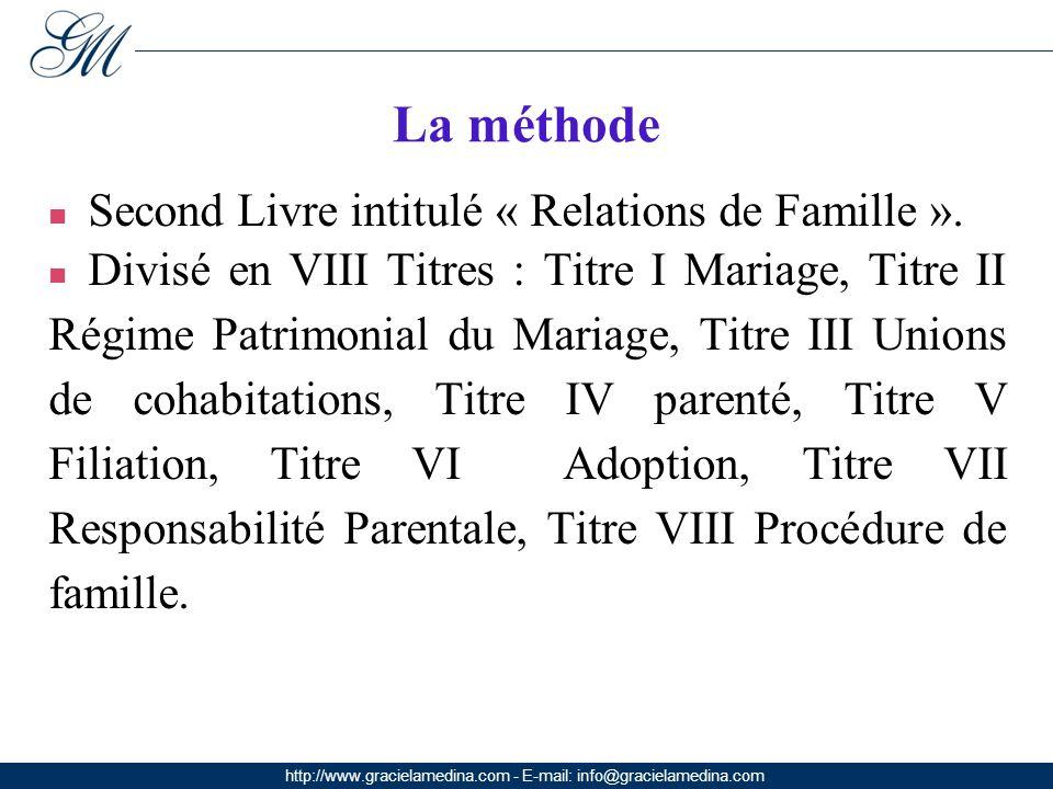 http://www.gracielamedina.com - E-mail: info@gracielamedina.com La méthode Second Livre intitulé « Relations de Famille ».