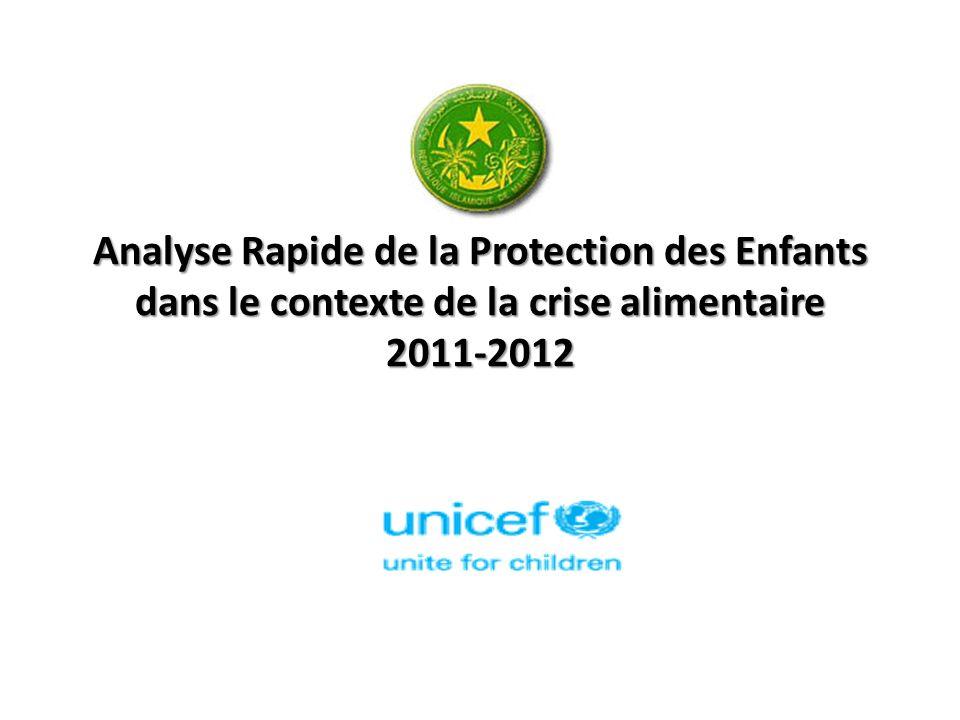 Analyse Rapide de la Protection des Enfants dans le contexte de la crise alimentaire 2011-2012