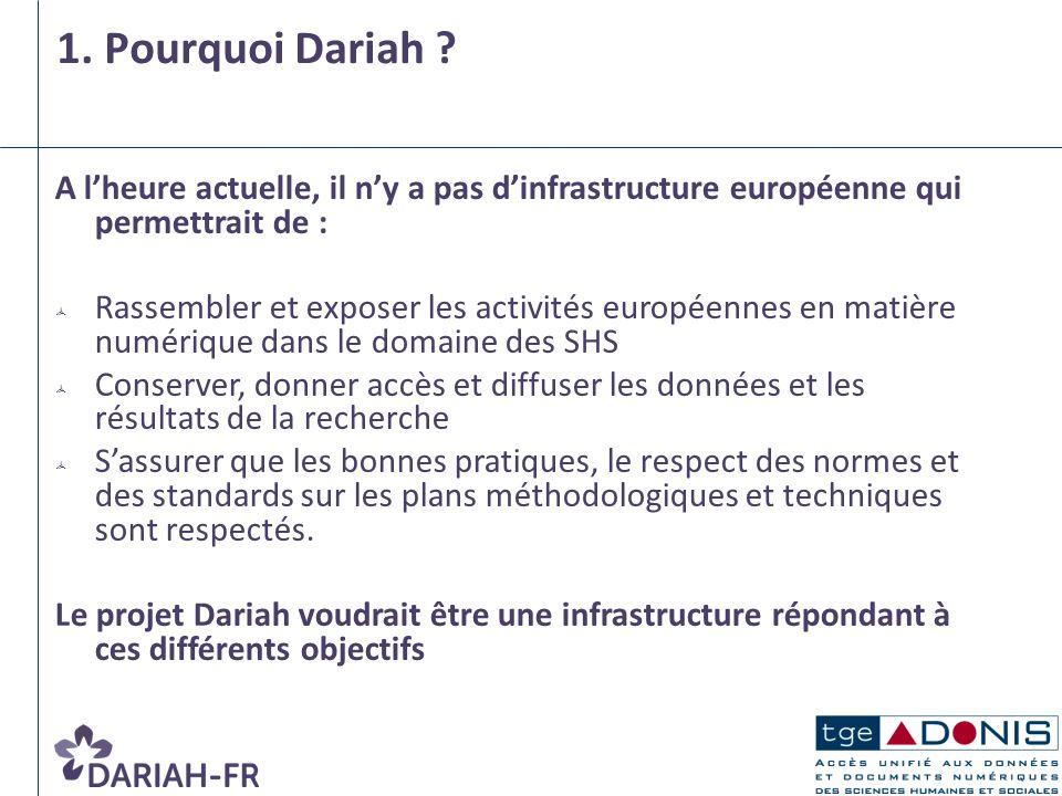 A lheure actuelle, il ny a pas dinfrastructure européenne qui permettrait de : Rassembler et exposer les activités européennes en matière numérique da