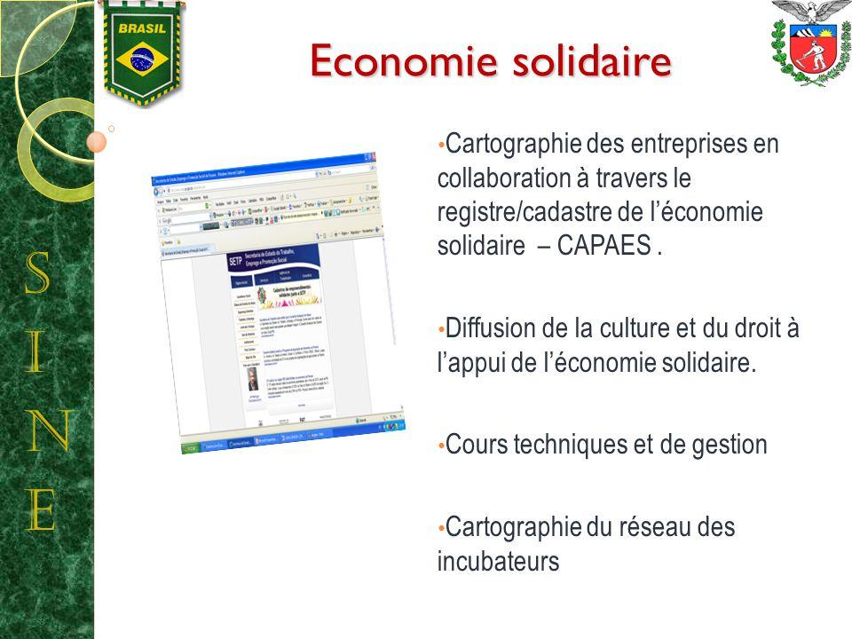 Economie solidaire Cartographie des entreprises en collaboration à travers le registre/cadastre de léconomie solidaire – CAPAES.