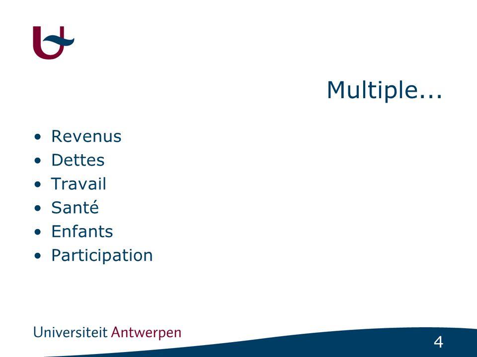 4 Multiple... Revenus Dettes Travail Santé Enfants Participation