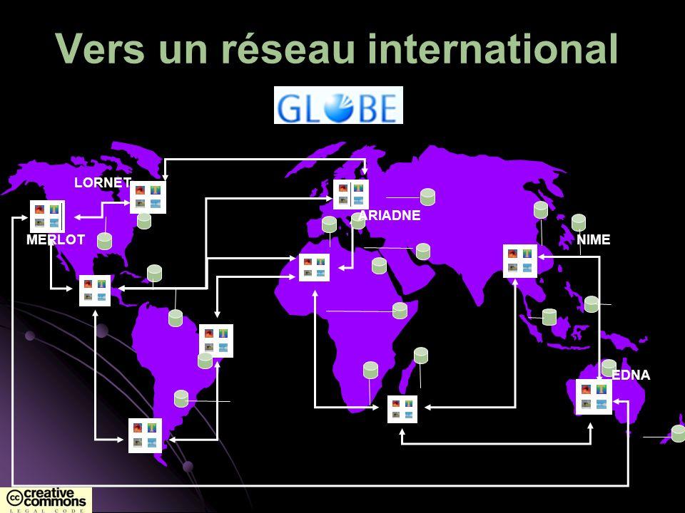 Vers un réseau international MERLOT LORNET ARIADNE NIME EDNA