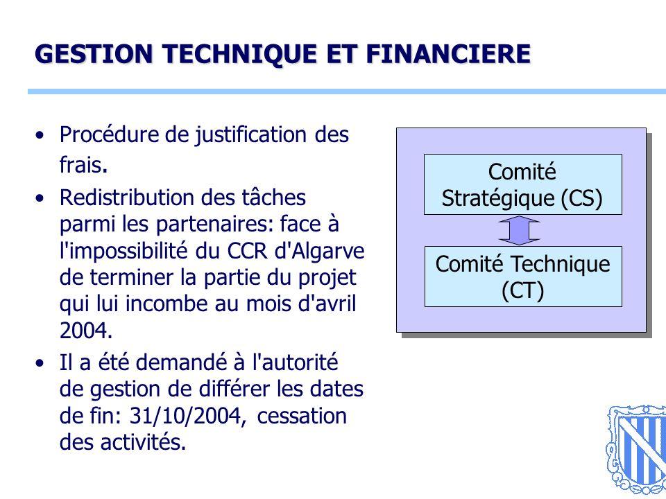 13 GESTION TECHNIQUE ET FINANCIERE Procédure de justification des frais.