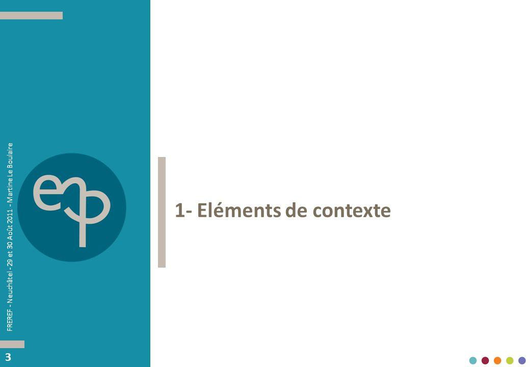 33 1- Eléments de contexte FREREF - Neuchâtel - 29 et 30 Août 2011 - Martine Le Boulaire