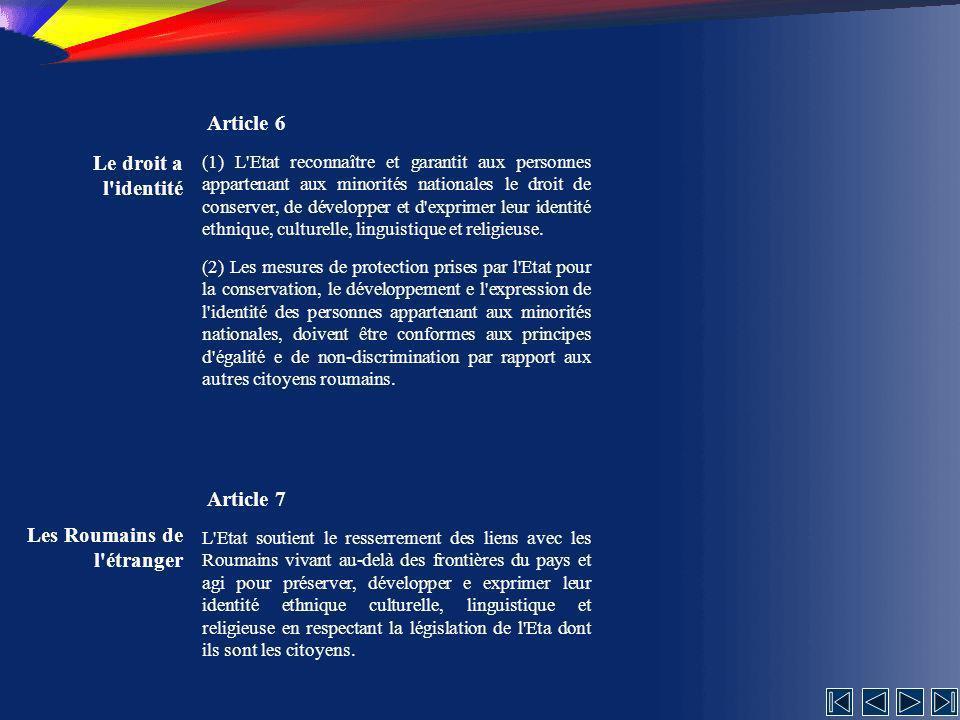 La structure Article 115 (1) Les ministères sont organisés uniquement en étant subordonnés au Gouvernement.