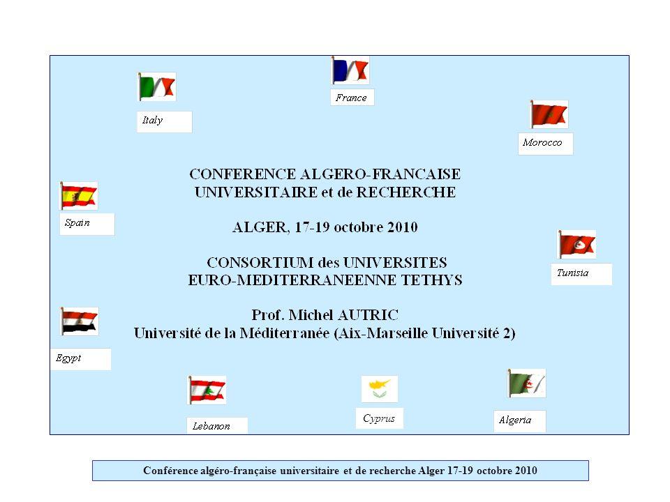 Conférence algéro-française universitaire et de recherche Alger 17-19 octobre 2010 Cyprus