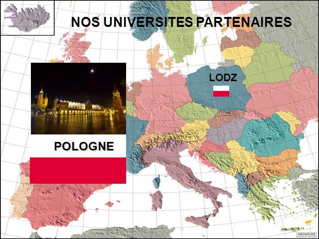 POLOGNE NOS UNIVERSITES PARTENAIRES LODZ