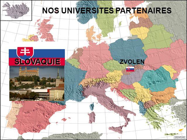 SLOVAQUIE NOS UNIVERSITES PARTENAIRES ZVOLEN
