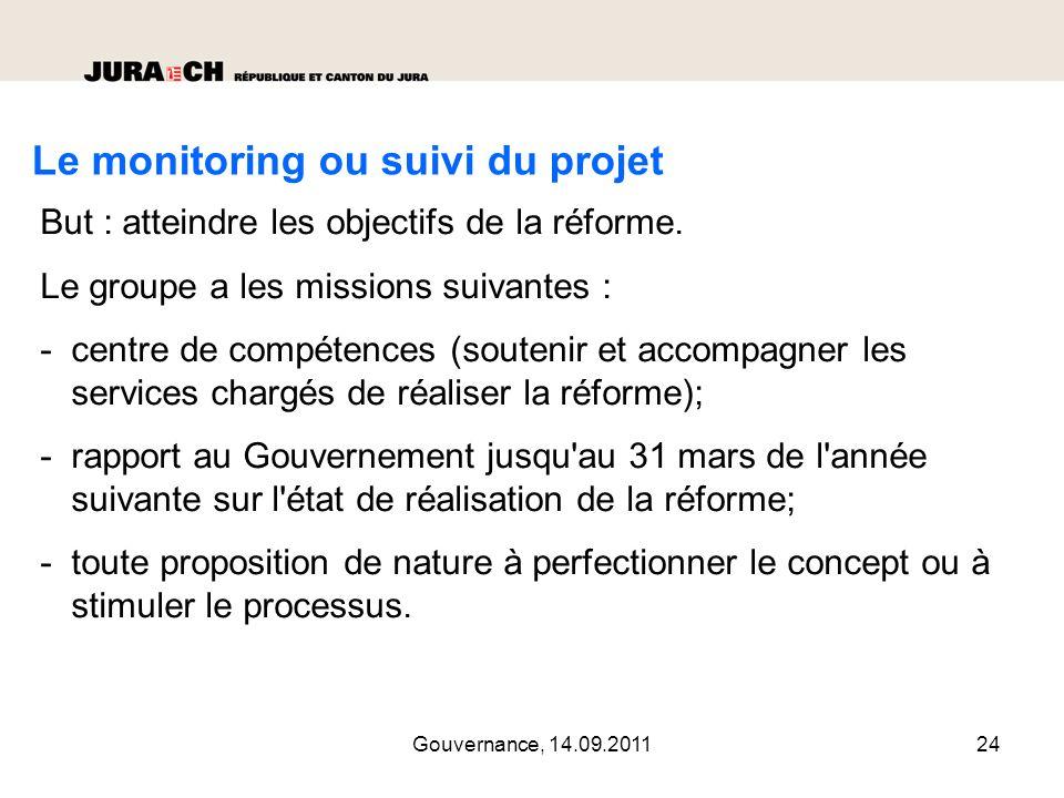 Gouvernance, 14.09.201125 L inventaire des partenariats L inventaire des partenariats (82 en 2011 ) a été dressé.