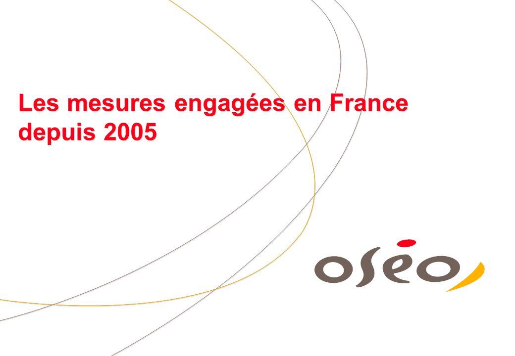 Les mesures engagées en France depuis 2005