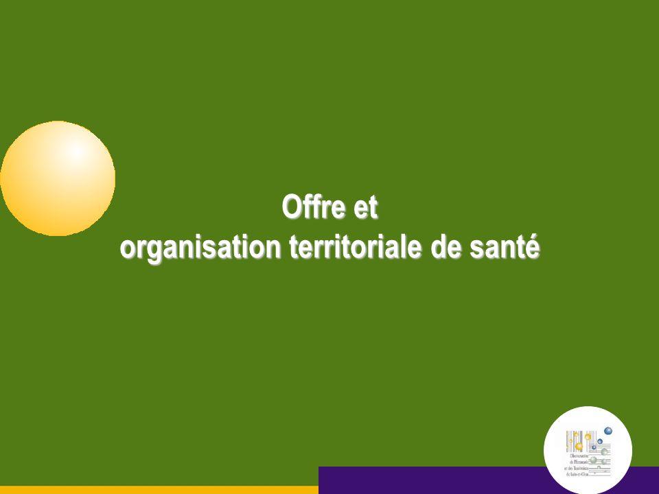 Octobre 2005 15 septembre 2005 Offre et organisation territoriale de santé