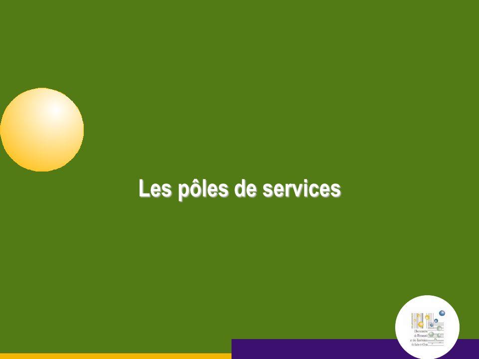 15 septembre 2005 Les pôles de services