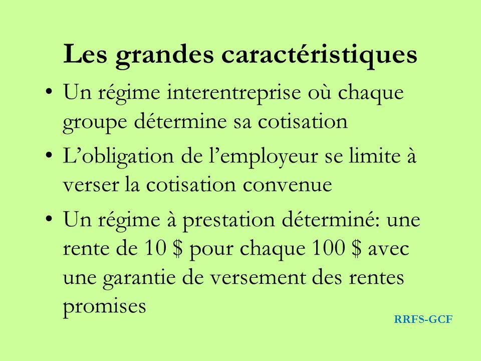 Les grandes caractéristiques Un régime interentreprise où chaque groupe détermine sa cotisation Lobligation de lemployeur se limite à verser la cotisa