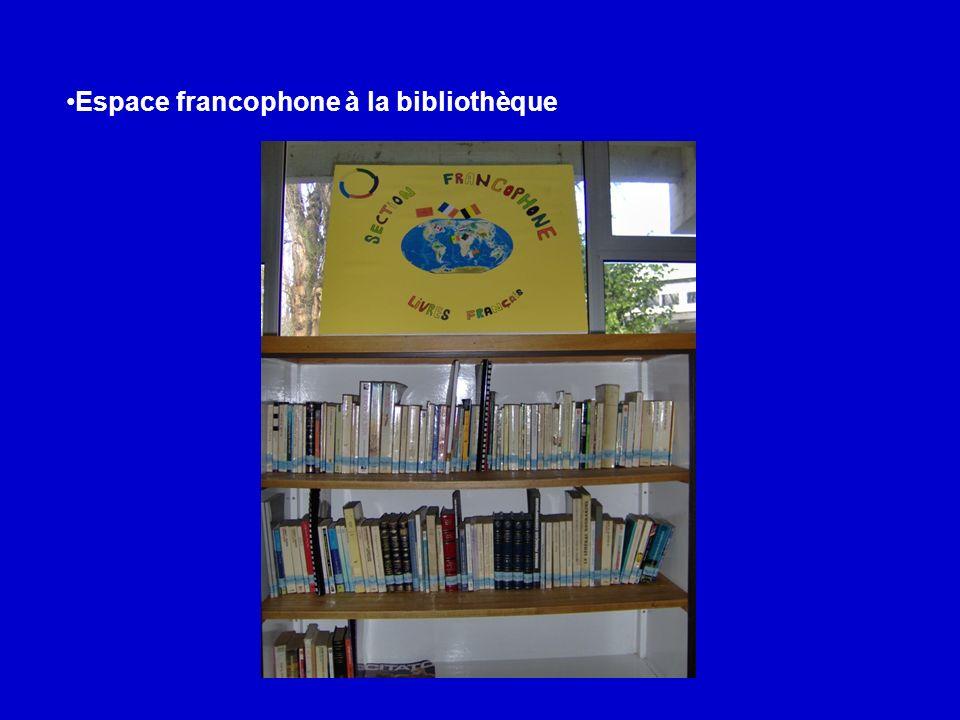 Espace francophone à la bibliothèque