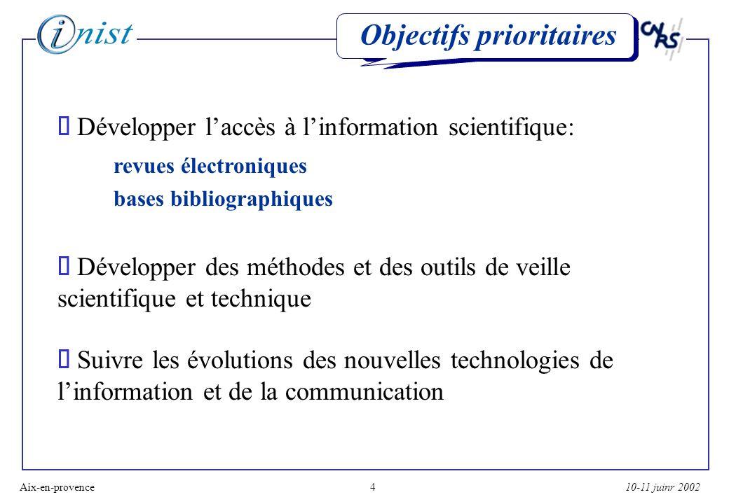 10-11 juinr 2002Aix-en-provence15 Lédition électronique Exemple 2: ALSIC, Université Marc Bloch (Strasbourg)