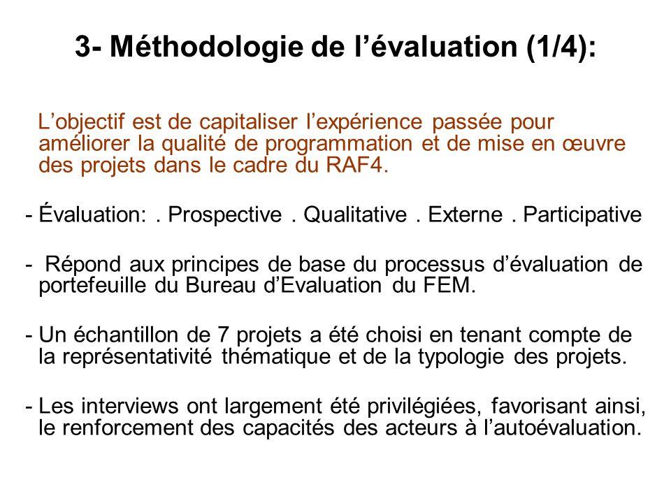 Lobjectif est de capitaliser lexpérience passée pour améliorer la qualité de programmation et de mise en œuvre des projets dans le cadre du RAF4. -Éva