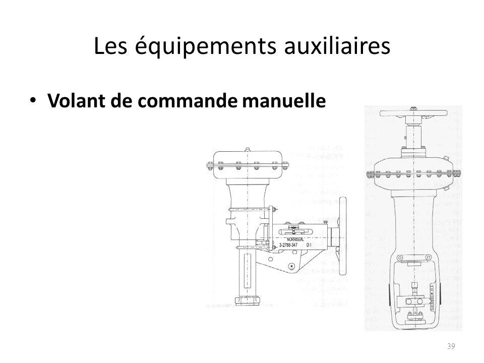 Les équipements auxiliaires Volant de commande manuelle 39