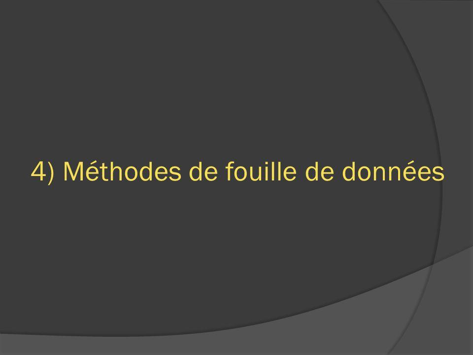 4) Méthodes de fouille de données