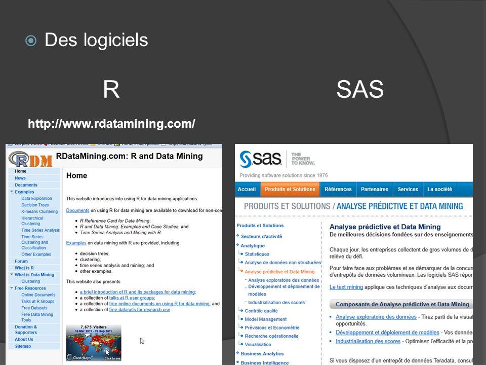 Des logiciels http://www.rdatamining.com/ RSAS