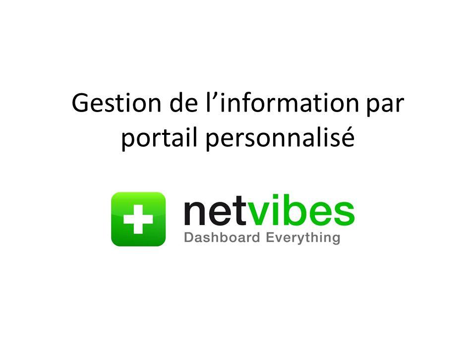 Gestion de linformation par portail personnalisé
