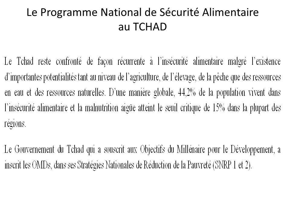 Le Programme National de Sécurité Alimentaire au TCHAD
