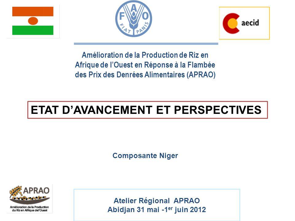 Atelier Régional APRAO Abidjan 31 mai -1 er juin 2012 Amélioration de la Production de Riz en Afrique de lOuest en Réponse à la Flambée des Prix des D
