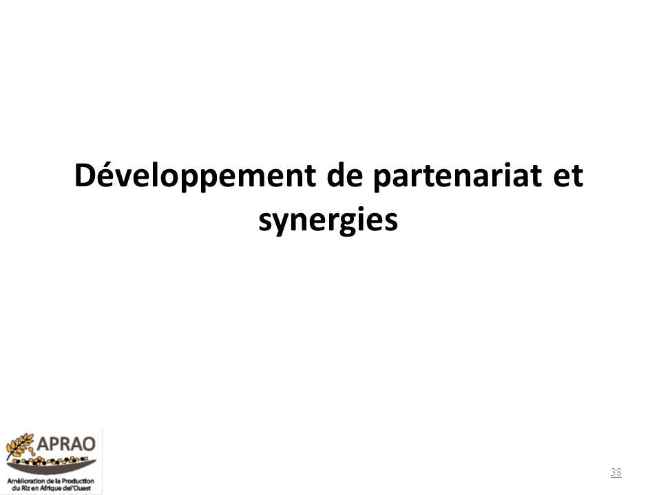 Développement de partenariat et synergies 38