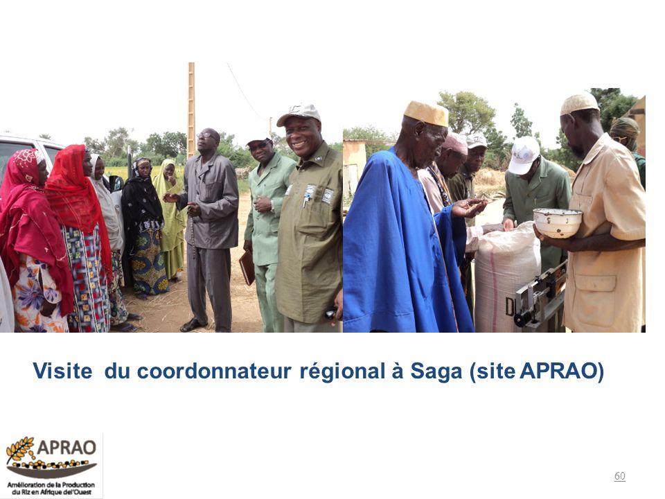 60 Visite du coordonnateur régional à Saga (site APRAO)
