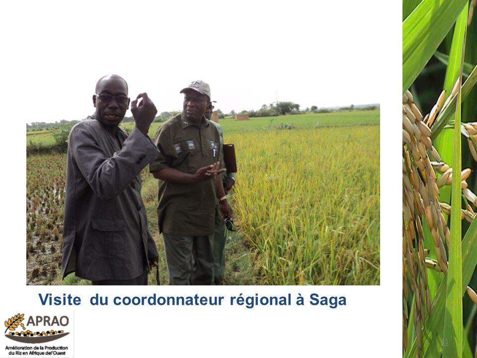 61 Visite du coordonnateur régional à Saga