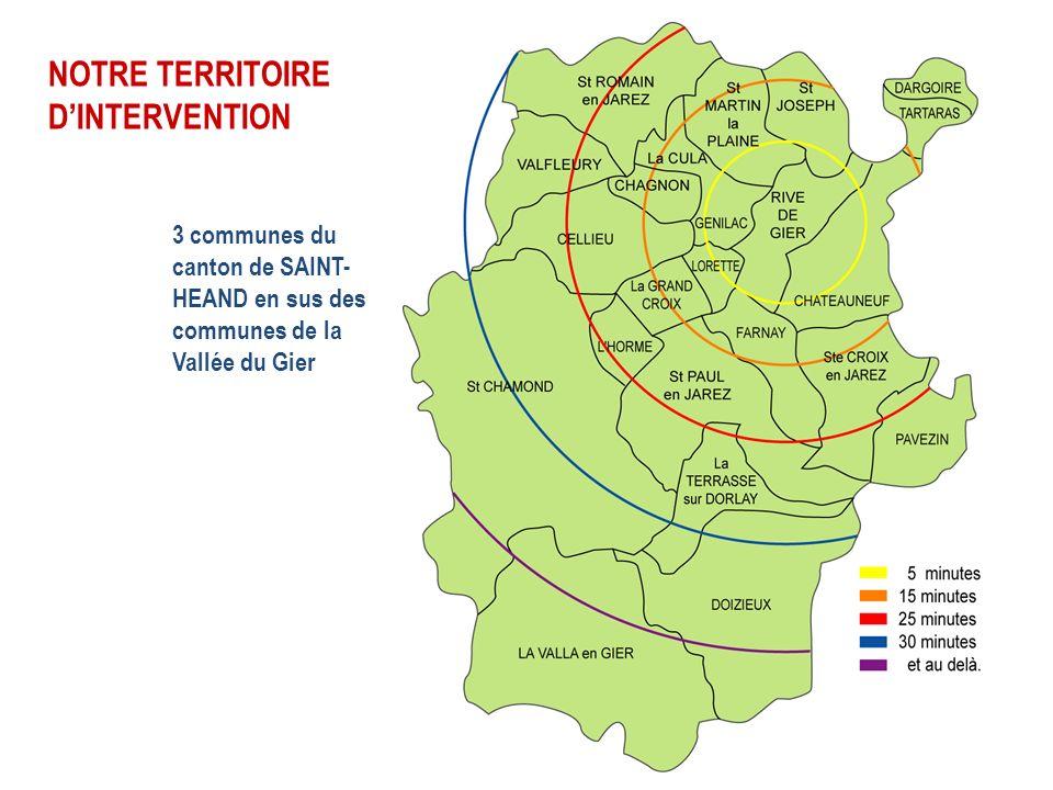 3 communes du canton de SAINT- HEAND en sus des communes de la Vallée du Gier NOTRE TERRITOIRE DINTERVENTION