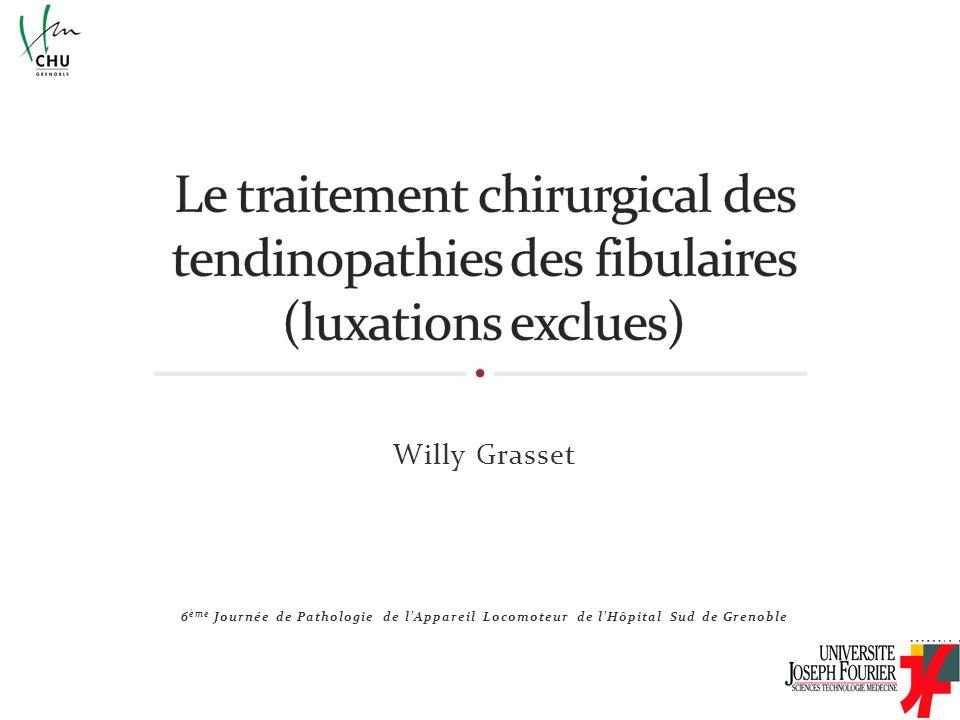 Willy Grasset 6 ème Journée de Pathologie de lAppareil Locomoteur de lHôpital Sud de Grenoble